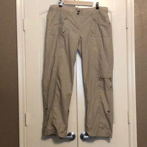 CHICO'S cargo pants, long or Capri length, sz 2